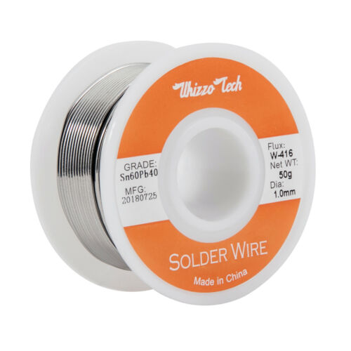 """60-40 Tin Lead Rosin Core Solder Wire for Electrical Solderding .039/""""//1.0mm 100g"""