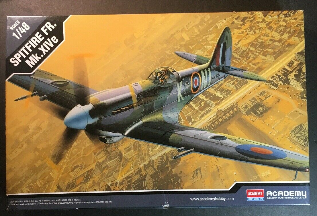 Academy 1 48 Spitfire FR. Mk. XIVe Model Kit New In Opened Box