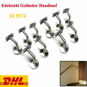 Cozyel 10x Handlauf Edelstahl Handlaufhalter Handlauftr/äger Edelstahlhandlauf Wandhalter Wandhalterungen Treppengel/änder L/äufeUnterst/ützung