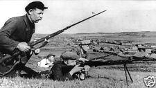Soviet Russian Guerrilla Fighters Russia World War 2, 7x4 Inch Reprint Photo
