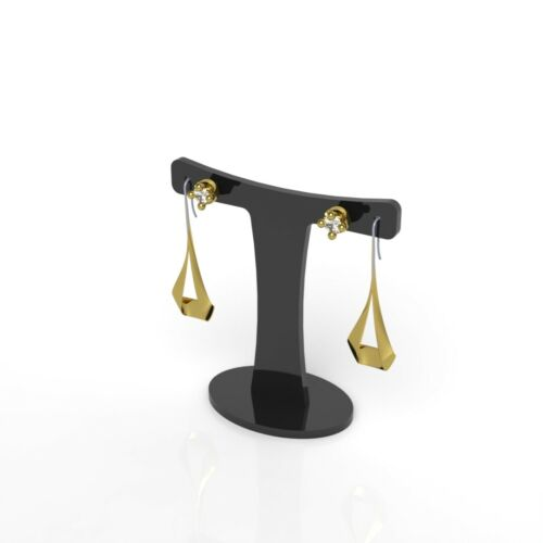 Pendant Necklace Earrings Jewellery Display Stand Acrylic Presenting Rack