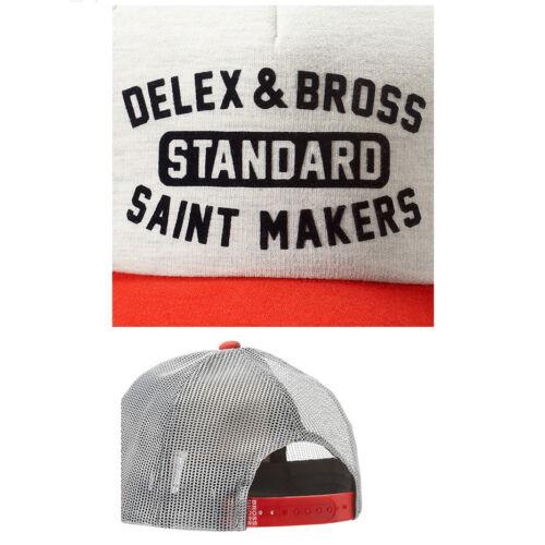 Unisex Mens Delux Bross Cool Mesh Snapback Baseball Cap Trucker Hats Beige//Red