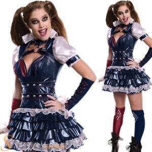 Ladies-Arkham-Harley-Quinn-Batman-Superhero-Villain-Fancy-Dress-Costume-Outfit