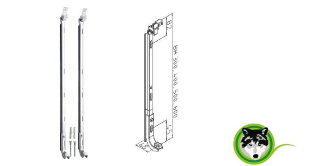 Heizkörper Halterung Wandkonsolen Bauhöhe 600 mm Flachheizkörper