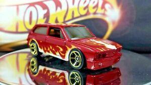 CANDY-RED-and-Flames-Hot-Wheels-VOLKSWAGEN-BRASILIA-2-Doors-Sport-Black-Interior