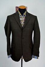 Vitale Barberis Canonico Mens Blazer 38R Plaid Jacket Wool Checks gr. 48 Arnold