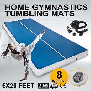 6x20-ft-Air-Track-Floor-Home-Gymnastics-Tumbling-Mat-GYM-W-Pump