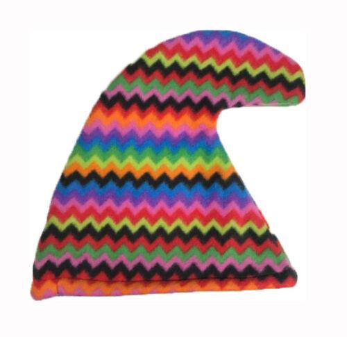Rainbow Rasta Ethnic Smurf Hat  Gnome Elf Hat Fancy Dress Costume Accessories