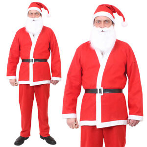f9ff3390b Details about ADULT SANTA SUIT FATHER CHRISTMAS FANCY DRESS COSTUME MENS  XMAS OUTFIT LOT