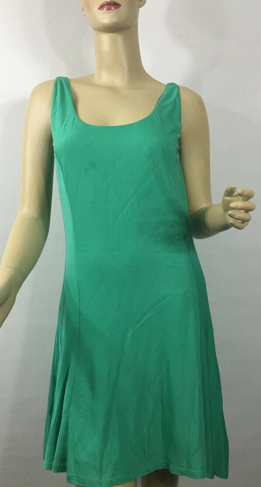 Ralph Lauren Blau Label Tank Dress Medium Grün Lined Party Cruise