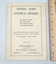 1920 Hoyt Electrical Instruments Hunting Down Electric Trouble Pamphlet