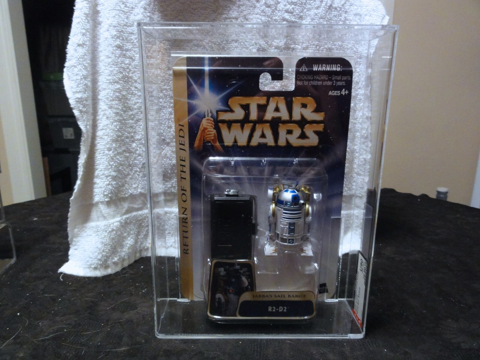 Star Wars 2004 ROTJ Gold R2 - D2 Sail Barge AFA Sealed MIB BOX