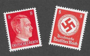 PF08  Adolf Hitler & WWII Germany  MNH postage stamp set 1942 Third Reich era