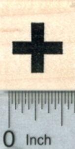 Tiny-Cross-Rubber-Stamp-Medical-Symbol-1-2-inch-Calendar-Series-A31119-WM