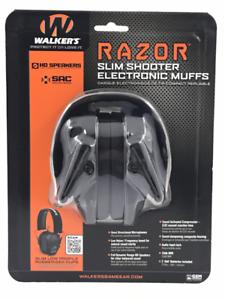 WALKERS GWP-RSEM RAZOR SLIM SHOOTER ELECTRONIC MUFFS BLACK