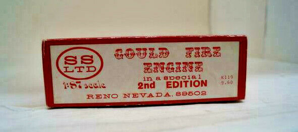 Ho Scale Structures Limited, Kit Gould Fire Engine Kit