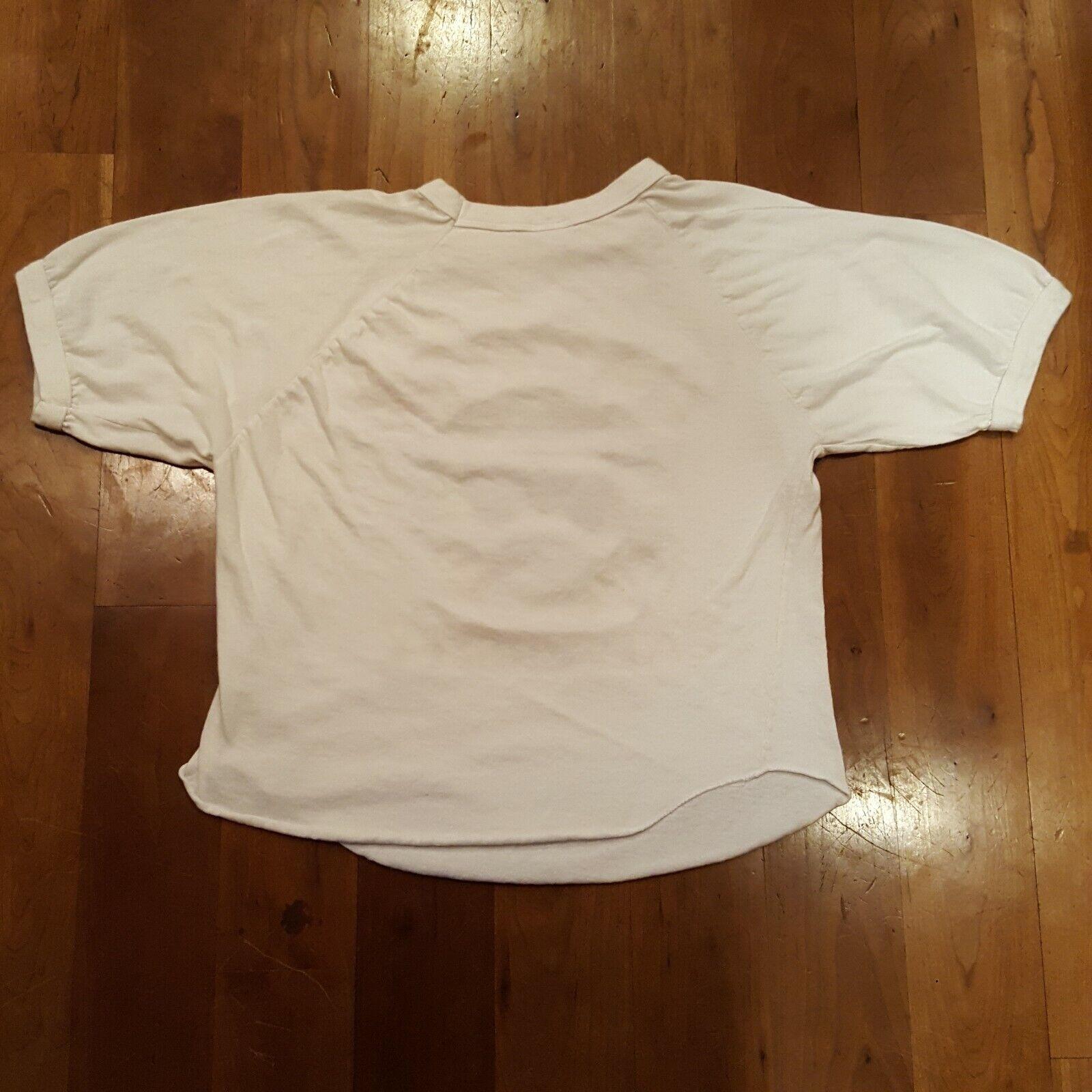 Vtg 70s Harvard University T-Shirt M White Ringer… - image 3