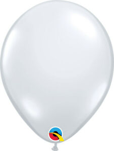 CLEAR-BALLOONS-25PK-11-034-QUALATEX-JEWEL-TONE-DIAMOND-CLEAR-PROFESSIONAL-BALLOONS
