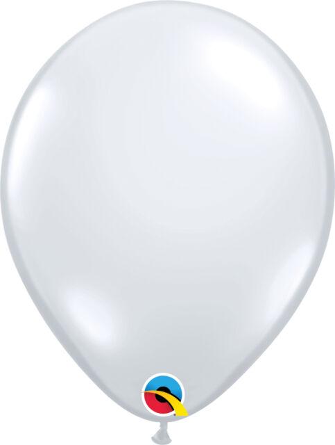 "CLEAR BALLOONS 25PK 11"" QUALATEX JEWEL TONE DIAMOND CLEAR PROFESSIONAL BALLOONS"