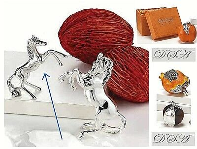 Furniture N.1 Favours Statue Horse Cm.8 H In Galvanic 925 Silver% Polished 7910/1 Refreshment Other Antique Furniture
