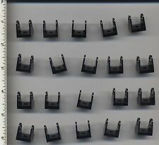 LEGO x 20 Black String Reel 2 x 2 Holder NEW