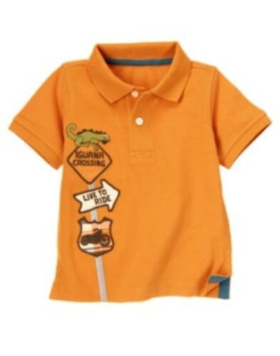 GYMBOREE SUMMER WHEELS IGUANA CROSSING S//S POLO TOP 3 6 12 18 2T NWT