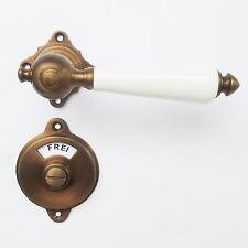 Bad WC Türklinken  Messing Bronze Farben Frei-Besetzt #64-GWC-BW