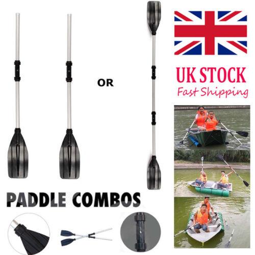 UK 2Pcs Aluminum Detachable Afloat Kayak Oars Boat Rafting Canoe Paddle Tool Hot