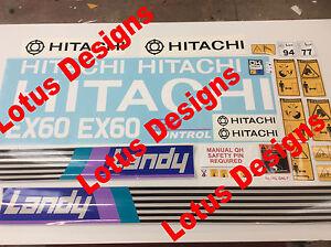 Avoir Un Esprit De Recherche Hitachi Ex60 -1 Digger Autocollants/decals-afficher Le Titre D'origine Dissipation Rapide De La Chaleur