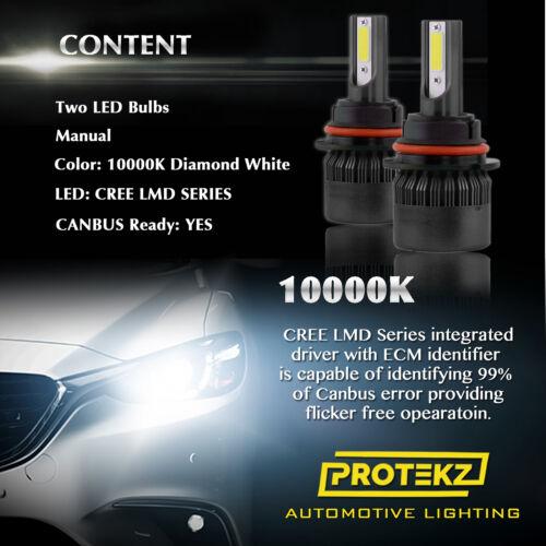 Protekz 9006 HB4 LED Fog Light Bulbs 6000K for Toyota Tundra 2000 2002 2004 2006