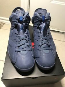 NEW 2018 Nike Air Jordan Retro 6 Diffused Blue 384664-400 Jimmy ... f7f08540d