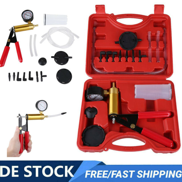 Hand Vacuum Druck Pumpe Bremsenentlüfter Vakuumtester Unterdrucktester Werkzeug*