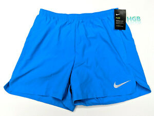 Nike-Flex-Challenge-Dri-Fit-Shorts-Blue-Lined-Training-Running-5-034-AH8149-408-NWT