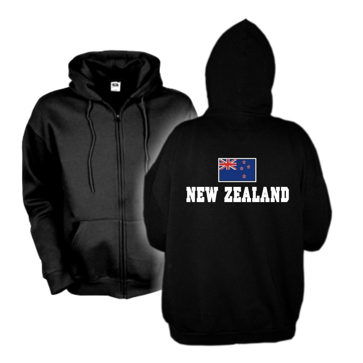 Kapuzenjacke NEUSEELAND New Zealand Flagshirt Hoodie Sweatjacke S-6XL WMS02-40e