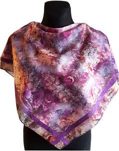3ca423f7acbf NEUF violet coton femme fille écharpe cache-nez imprimé floral ...