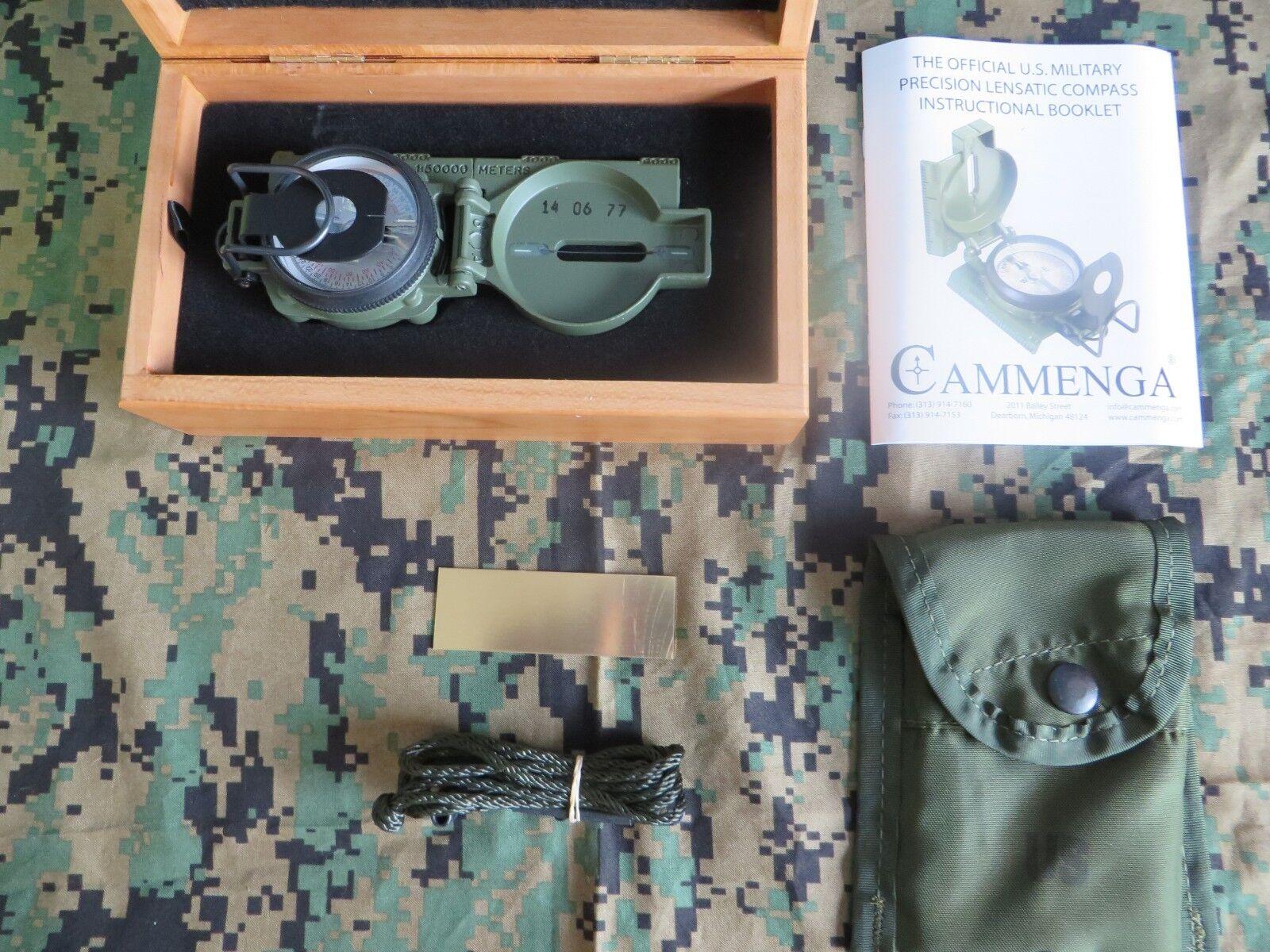 COLLECTIBLE CAMMENGA 3H  LENSATIC TRITIUM COMPASS + CHERRYWOOD DISPLAY BOX  deals sale