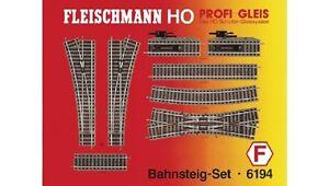 Fleischmann 6194 - Ensemble Échelle H0 Rail Professionnel Bahnsteig