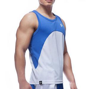 Boxhaus- 7PUNCH HighPro Box Top blau. S-XXL. Polyester. Boxshirt. Wettkampf.
