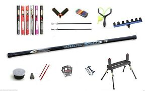 8-Metre-Pole-Fishing-carp-Concept-Carbo-pole-Kit-pre-elasticated-Roller-rigs