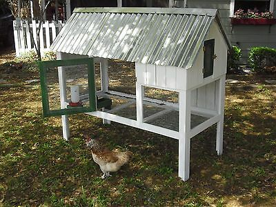 "CHICKEN COOP PLANS ""Cute Coop Deluxe"" Easy Build plans with BONUS NEST BOX PLAN"