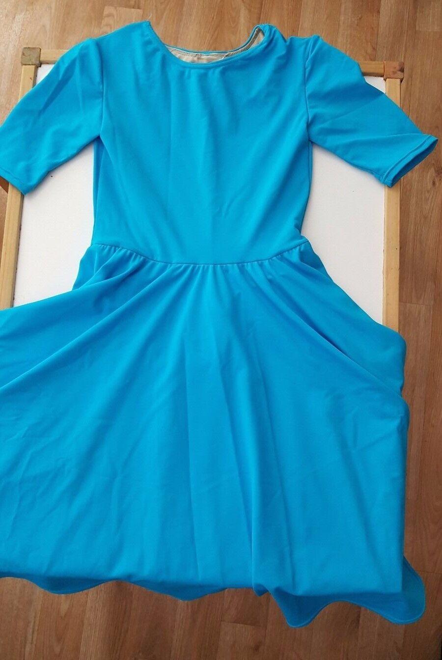 bluee Dance Dress with long skirt - Girls [Size 5T]