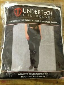 41eff9cc14adc Image is loading UnderTech-Undercover-Concealment-bootcut-leggings -black-X-Large