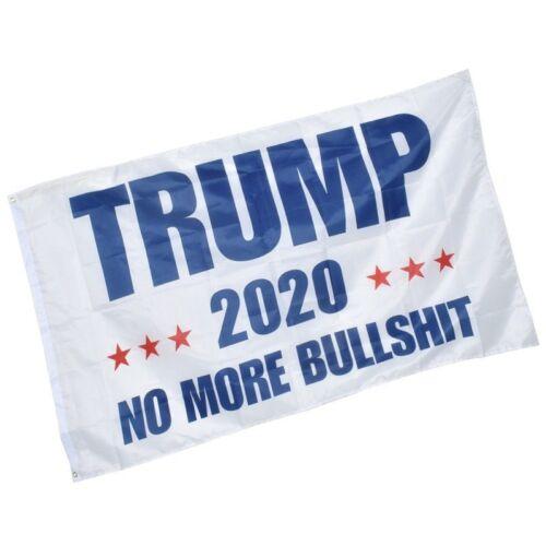 3/' x 5/' Trump 2020 Flag Keep America Great Again MAGA No More BULLSHIT Flag USA