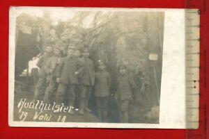Foto-AK-1-WK-Militaer-Soldaten-vor-Bunker-Houthulster-Wald-Flandern-60947