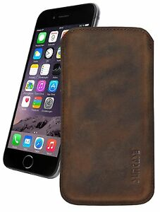 iPhone-7-6-6s-4-7-034-Ultra-Slim-Etui-Tasche-Ledertasche-Huelle-Case-Coffee