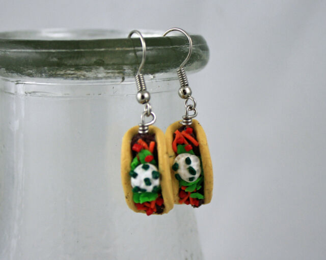 Taco Earrings - Fake Food Jewelry - Cinco De Mayo