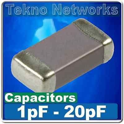 SMD/SMT 0402/0603/0805/1206 Ceramic Capacitors  -100pcs [ Range: 1pF - 20pF  ]