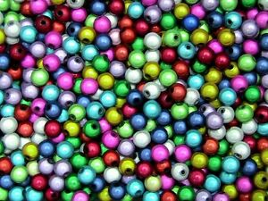 Quality-Round-Mixed-Colour-3D-Illusion-Miracle-Beads-Jewellery-Various-Size-039-s-ML