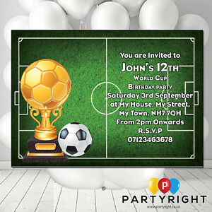Image Is Loading Personalised World Cup Football Kids Adults Party Birthday