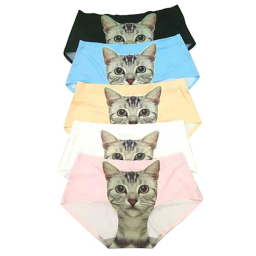 Damen Pussy Höschen Slips Höschen Katze Bedruckt Unterwäsche UnterwäscheVS